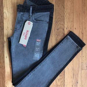 Levi's Split Tone 711 Skinny Jeans